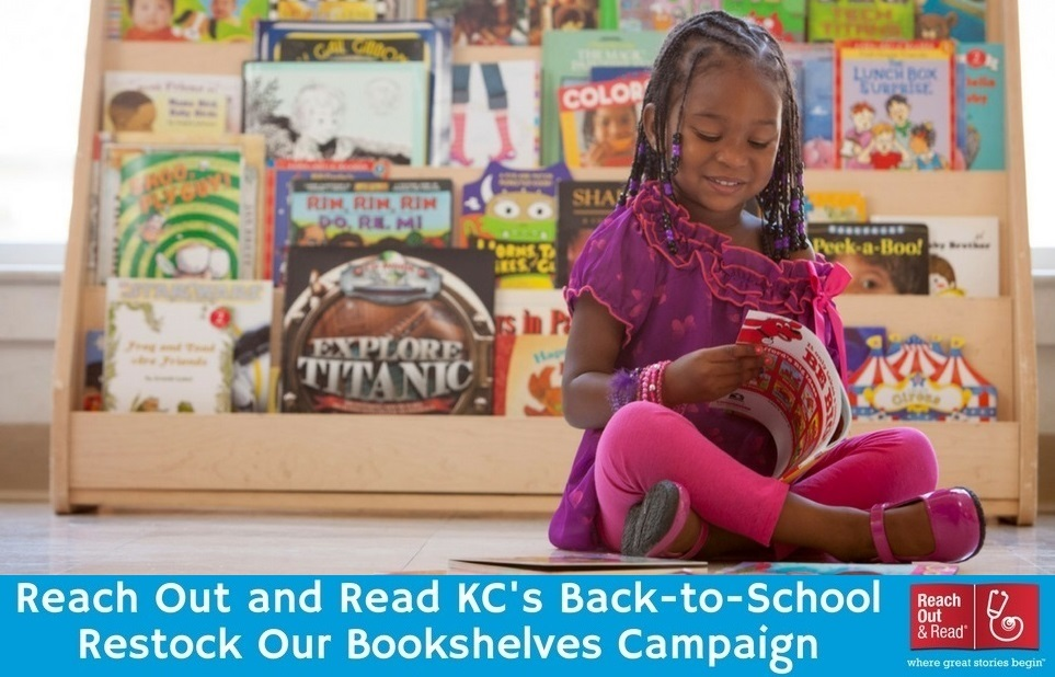 Reach Out and Read Kansas City's Back-to-School Restock Our Bookshelves Campaign