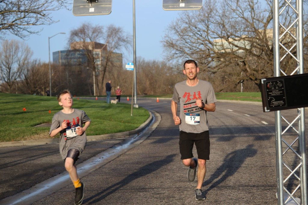 father and son running take 2MB